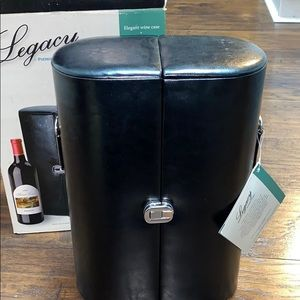 Legacy black Mobil wine case nwt! Shoulder strap